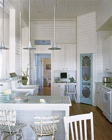 beach inspired home with blue and white kitchen home quintessential beach house kitchen beautiful kitchens