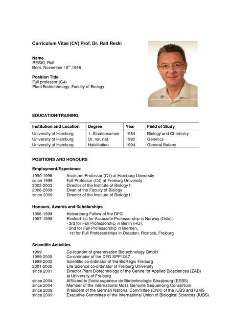 How To Make Cv For Sle by Curriculum Vitae Professor Ptaxdyndnsorg Pictures Can I
