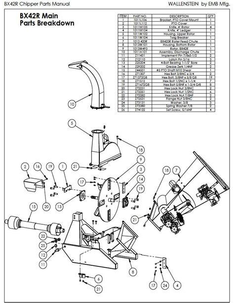 wood chipper diagram used wallenstein bx42r wood chipper