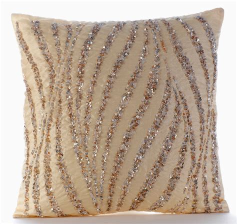 Beige Pillow Covers by Beige Decorative Pillow Cover 16x16 Silk Pillows