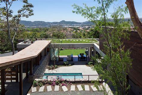 house el salvador indoor outdoor home design multi level garden house in el