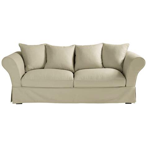 maison du monde divano roma divano beige grigio chiaro in cotone 3 4 posti roma