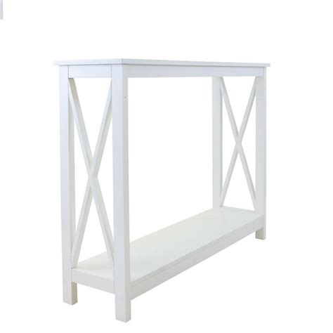 collette hamptons hall console table white contemporary