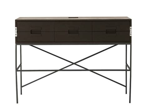 solid wood writing desk with drawers elios collection by