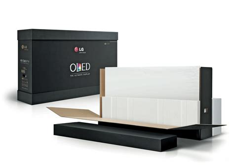 4 Tv Stand by Glueless Oled Tv Box The Dieline Packaging Amp Branding
