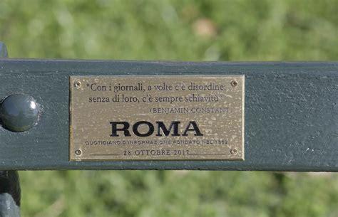 panchina roma il quot roma quot adotta una panchina a capodimonte roma