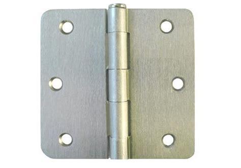 Exterior Door Hinges On Outside Satin Nickel 3 1 2 Quot Door Hinges 1 4 Quot Radius Us15 Cheap Discount Budget Inexpensive Best Bestknob