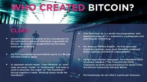 bitcoin to satoshi who created bitcoin satoshi