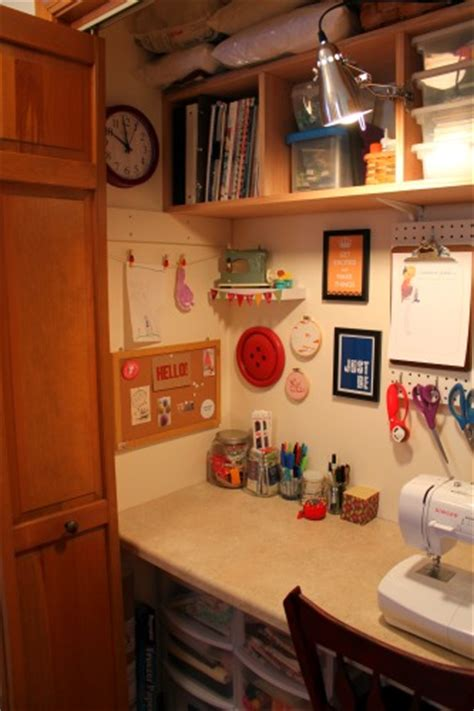 Sewing Room In A Closet by Craft Room