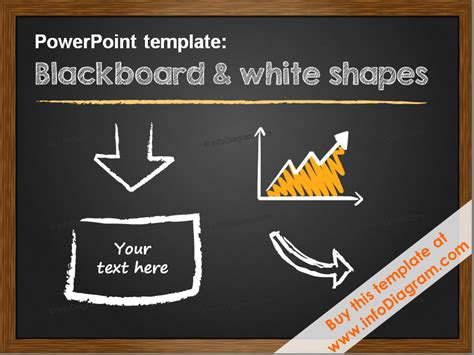 Minimalistic Pptx Template 5 Slide Layouts Blackboard White Shapes Chalkboard Powerpoint Template