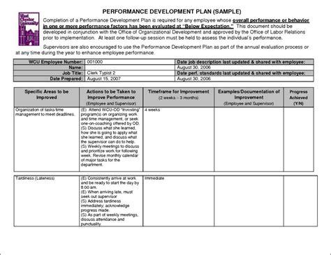 Performance Improvement Plan Exles Template Business Performance Plan Template For Employees
