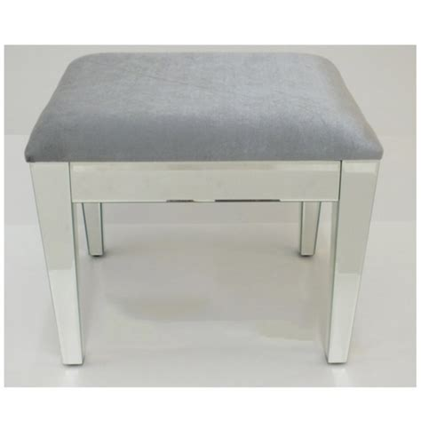 grey mirrored dressing table mirrored stool for dressing table or console