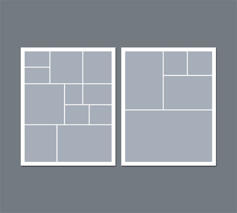 Instant Download Digital Photo Collage Template 8 X 10 Photo Template