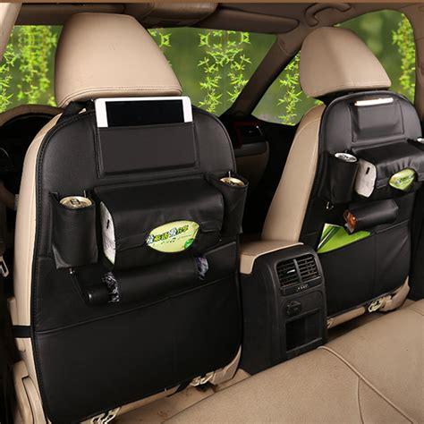 Organizer Penyimpan Baju Storage Bag 1pcs tancredy new car seat storage bag leather hanging bag car seatback organizer car seat cover