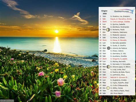 Calendario 2018 Giugno Calendari 2018 Giugno Per Sfondo Desktop Settemuse It