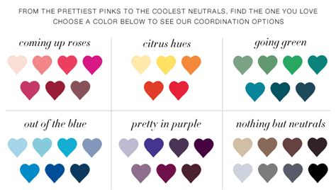 and color coordinated lingerie mark our signature boutique style color palettes bridesmaid dresses by color david s bridal