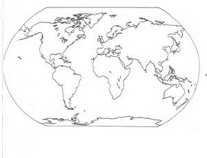 Continents And Oceans Blank Map by Blank Seven Continents Map Mr Guerrieros Blog Blank And