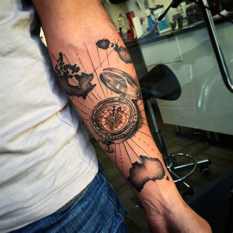 compass map tattoo agius certified artist