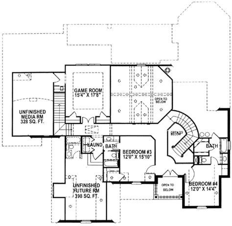 stairs floor plan two stairs for great flow 15338hn architectural