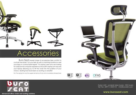 Ergonomic Chair Accessories by Ergo Accessories Buroseat