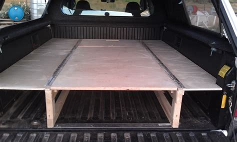 truck bed platform buiding a sleeping platform for a pickup truck bed