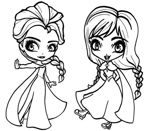 chibi elsa coloring page elsa face frozen coloring pages free printout printable