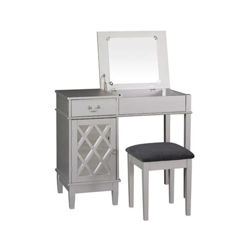 Vanity Set With Mirror by Linon Lattice Vanity Set With Mirror Reviews Wayfair