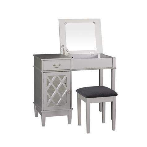 Vanity With Mirror by Linon Lattice Vanity Set With Mirror Reviews Wayfair