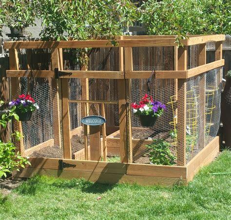 ana white garden enclosure  custom gate diy