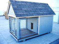 dog house with attached kennel outdoor dog kennels on pinterest