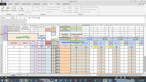 get production schedule excel templates projectmanagersinn with