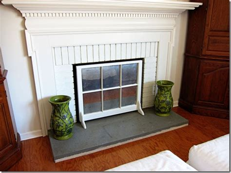 how to make a fireplace screen using a window sash in my