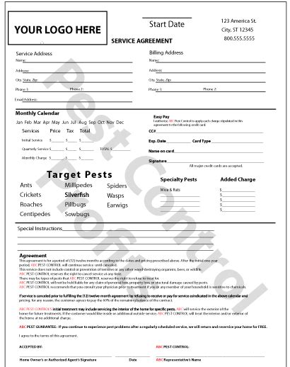 Printable Sle It Services Contract Form Laywers Template Forms Online Pinterest Real Pest Bid Template