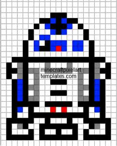 minecraft pixel art templates r2 d2