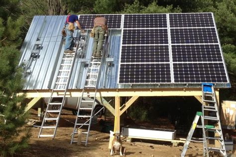 Solar Panels For Sheds by Solar Shed With Microinverters Potsdam Ny Northern