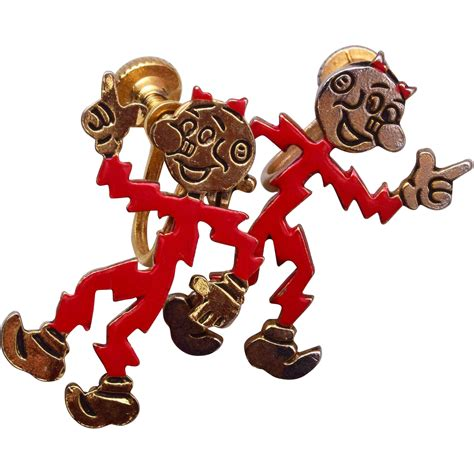 Reddy Kilowatt L by Reddy Kilowatt Earrings From Wrightglitz On Ruby