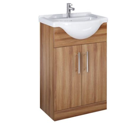 belmont 55cm walnut vanity unit