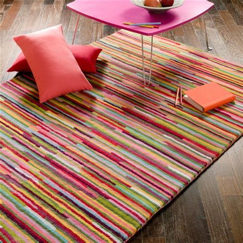 multi coloured wool rug tufted wool multi coloured stripe rug home inspiration