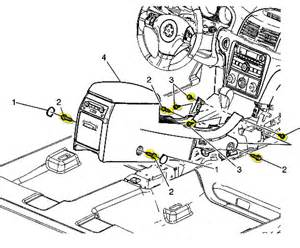 Service Manual Removing Center Console In A 2007 Saturn