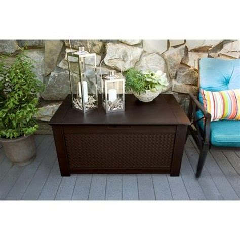 rubbermaid patio chic storage bench rubbermaid 174 patio chic storage bench deck box chic