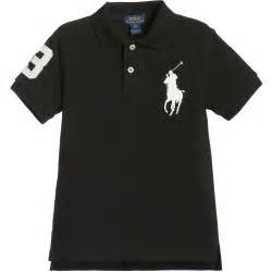 polo ralph lauren boys black amp white big pony polo