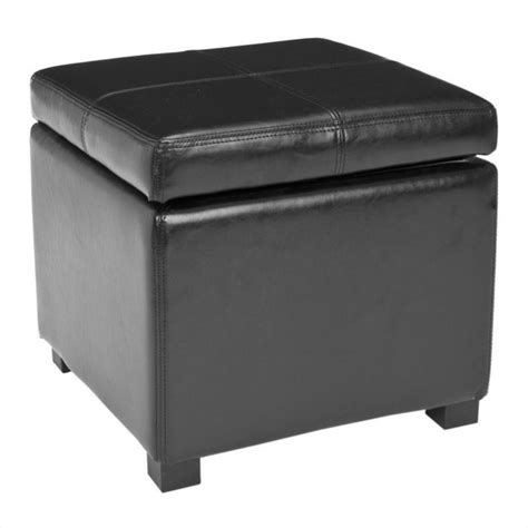 Wood Storage Ottoman Safavieh Elizabeth Beech Wood Leather Storage Ottoman In Black Ebay