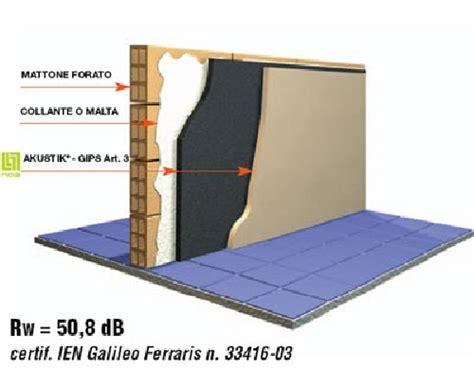 isolamento acustico parete interna foto particolare sezione parete muro fonoassorbente de
