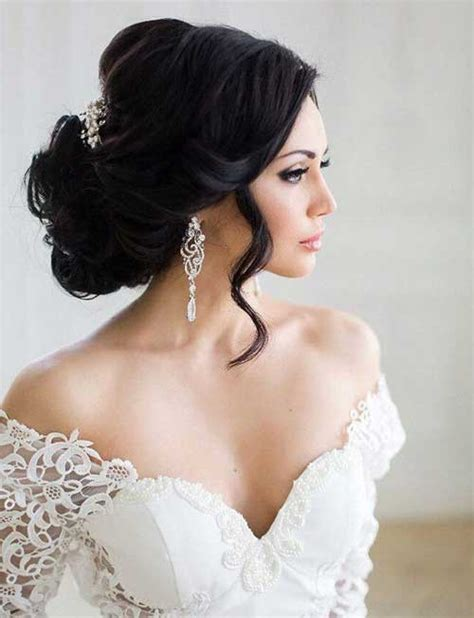 Bridal Hairstyles Dark Hair | 25 wedding long hairstyles long hairstyles 2016 2017
