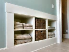 in wall bathroom shelves laundry room storage ideas diy home decor and decorating