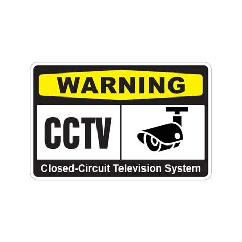 printed vinyl warning cctv closed circuit television