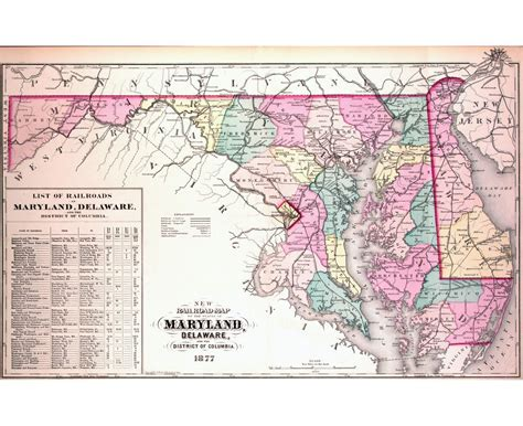 maryland attractions map maps of maryland state collection of detailed maps of