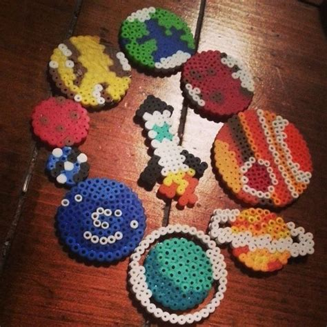 planet bead space perler by cosmicbutton fusion