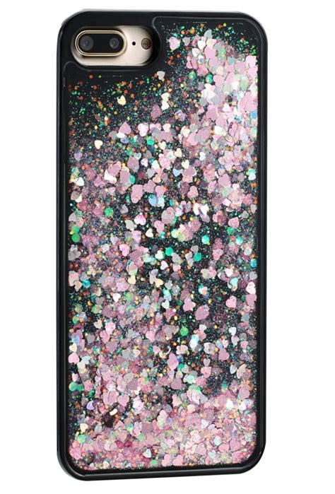 Water Glitter Iphone 7 Plus iphone 7 plus black pink bling clear tpu plastic liquid water glitter mobile back