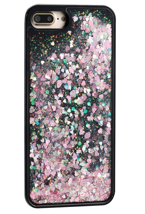 Water Glitter Iphone 7 Plus iphone 7 plus black pink bling clear tpu plastic